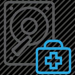 data, disk, doctor, pc, rescue, storage icon