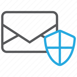 email, mail, message, protection, secure, security icon