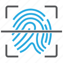 fingerprint, id, identity, scan, security icon