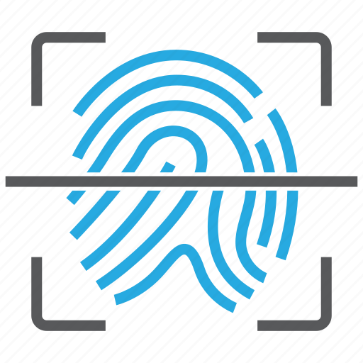 fingerprint, id, identity, scan, security icon
