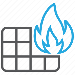 antivirus, fire, firewall, pc, safety, security, wall icon