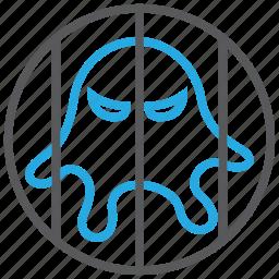 isolation, jail, malware, prison, quarantine, trojan, virus icon