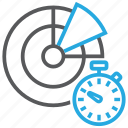 scan, scheduled, date, scanner, stopwatch, timer, virus icon