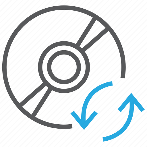 cd, dvd, refresh, reload, software, sync, update icon