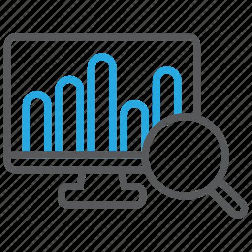 activity, analytics, bar, growth, report, statistics, suspicious icon
