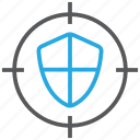 aim, protect, protection, safe, shield, target icon