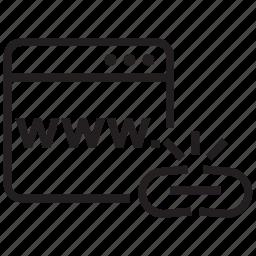 broken, browser, hyperlink, link, network, url icon