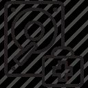 data, disk, drive, health, rescue, server, storage icon