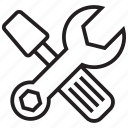 configuration, equipment, gear, repair, settings, tools, wrench icon