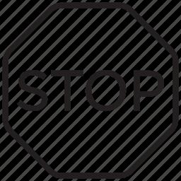 sign, stop, traffic, warning icon