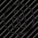 target, unlocked, aim, padlock, security