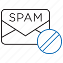 anti, mail, spam icon