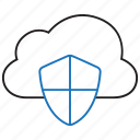 cloud, data, protection, storage icon