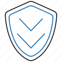 database, protection, shield, update icon