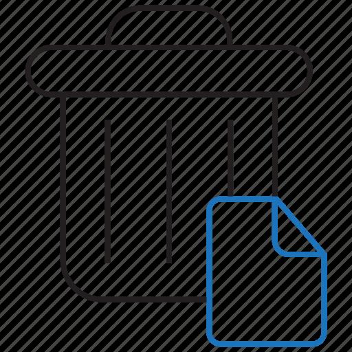 delete, files, remove, trash icon