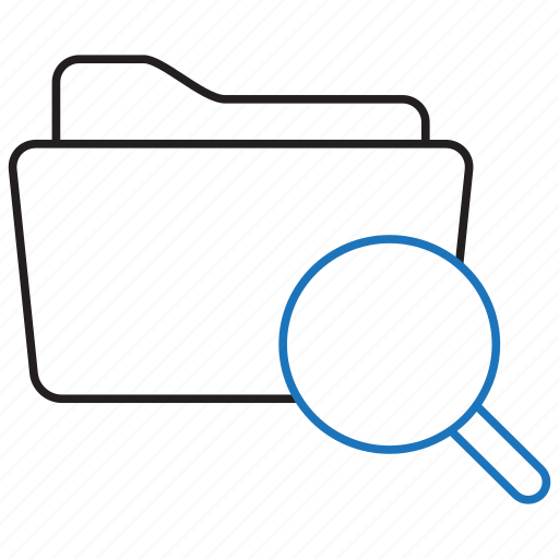 document, files, find, folder, search icon