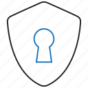 key, management, security, shield icon