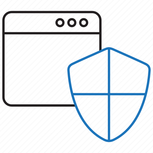 browser, shield, surf icon