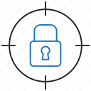 lock, locked, target icon