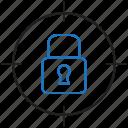 locked, target, lock