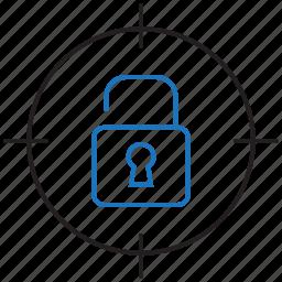 goal, target, unlock, unlocked icon