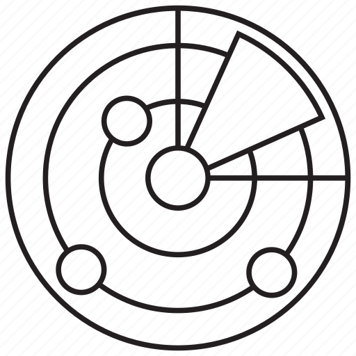bug, find, location, radar, scanner, search, virus icon