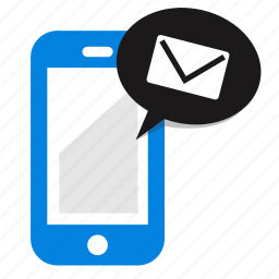 email, mail, message, mobile, phone, sms, sms marketing icon