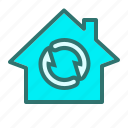 air, arrows, exchange, finance, home, sirculation icon