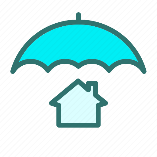 home, house, property, protection, safe, security, umbrella icon