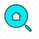 apartment, find, house, search icon