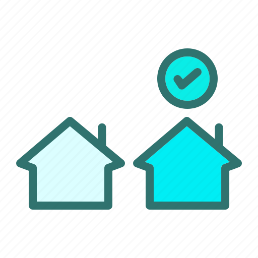 accept, buy, house, selection icon