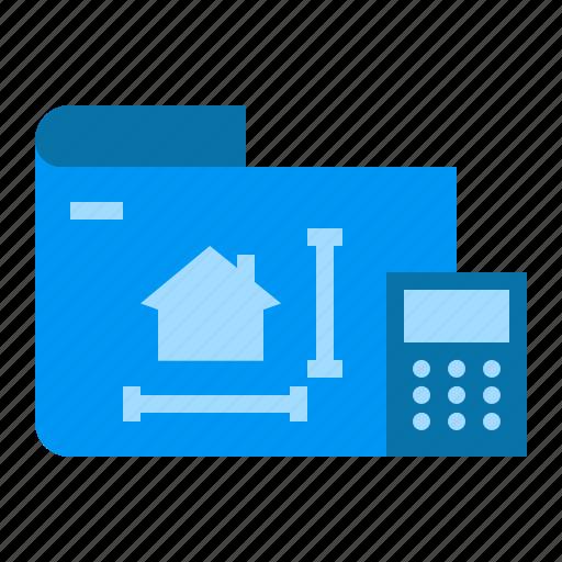 architecture, blueprint, calculation, concept icon