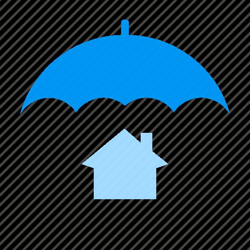 house, protection, umbrella icon