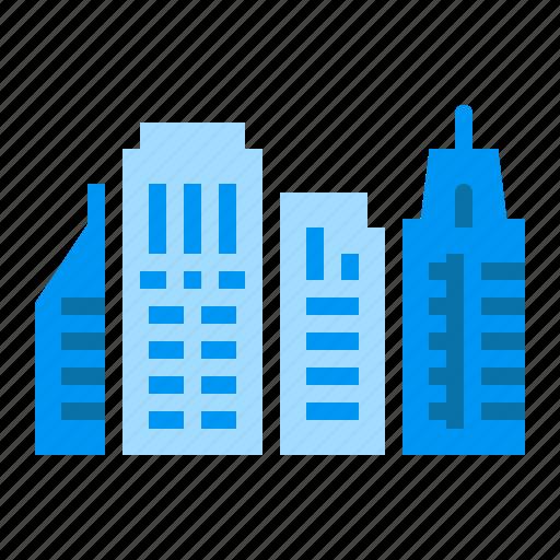 city, hotel, house, skyscrapper icon
