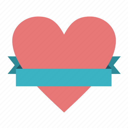 band, favorite, favourite, heart, holiday, love, riband, ribbon, strip, tape, valentine icon