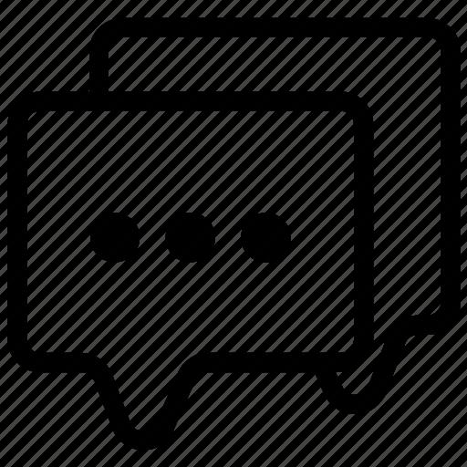 chat, converse, discuss, interact, message, speak, talk icon