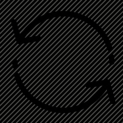 refresh, reload, repeat, rotation, sync, synchronization, synchronize icon