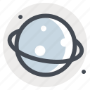 astronomy, moon, planet, ring, saturn, space, stars icon