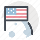 cosmos, flag, launch, moon, planet, space, universe icon