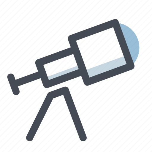 astronomy, moon, planets, research, space, star, telescope icon