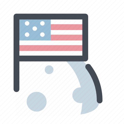 astronomy, cosmos, flag, launch, moon, planet, space icon