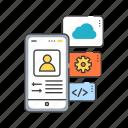 app, application, creating, development, functions, mobile, smartphone