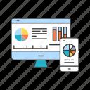 app, bi, business, computer, development, intelligence, smartphone icon