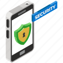 mobile protection, mobile security, secure phone, smartphone protection, smartphone security icon