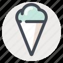 cream, dessert, fruit, ice, ice cream cone, summer, sweet icon