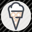 dessert, fruit, ice, ice cream, ice cream cone, summer, sweet icon