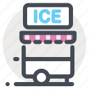 dessert, icecream, icecream truck, shop, store, summer, van icon