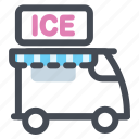 summer, eskimo pie, icecream, icecream truck, parlor, shop, store