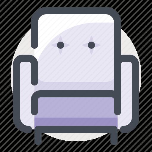 chair, couch, decor, furniture, house, interior, sofa icon