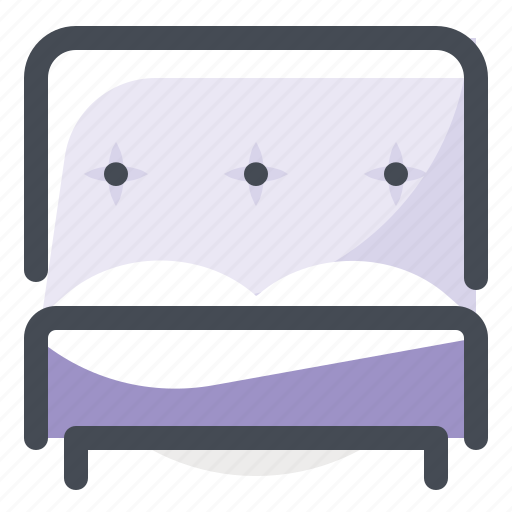 apartment, bed, bedroom, couple, double, furniture, interior icon